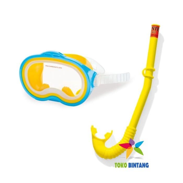 harga Intex kaca mata renang snorkeling selam anak   8-14 thn   snorkel Tokopedia.com