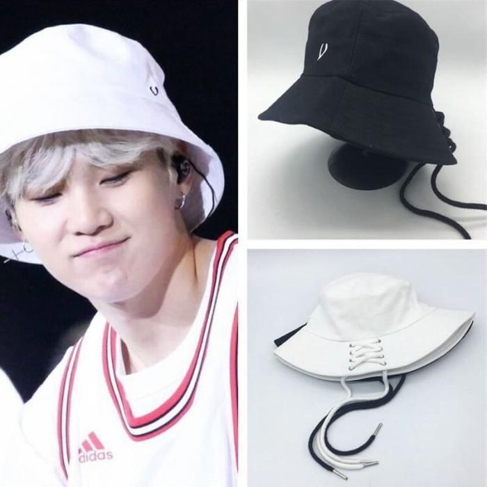 1a3e1fd5a65 Jual Aksesoris Fashion Topi Bucket Hat Shoelace Bangtan Boys - BTS ...