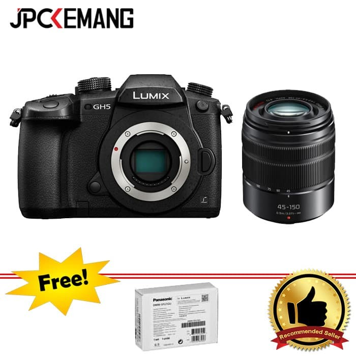 harga Panasonic lumix gh5 body + panasonic lumix g vario 45-150mm f/4-5.6 Tokopedia.com