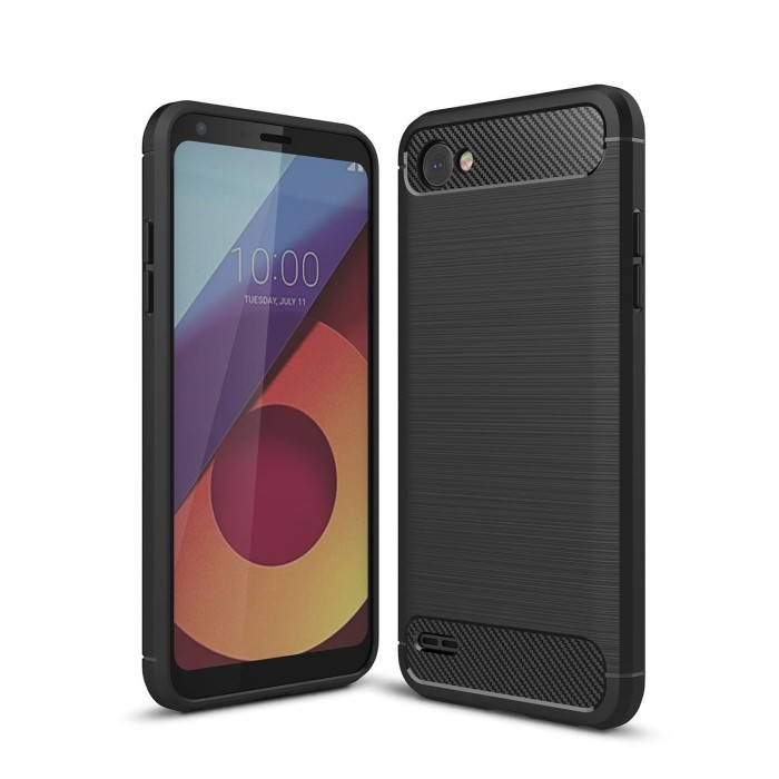 Jual Hard Soft Case Lg Q6 Plus Dual Casing Hp Ipaky Carbon Armor