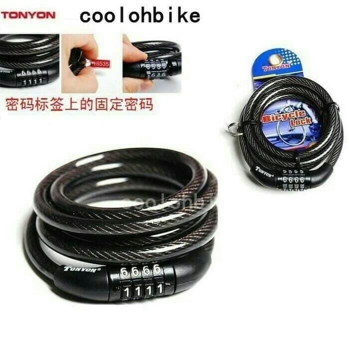 harga Kunci kabel pengaman sepeda - bicycle lock Tokopedia.com