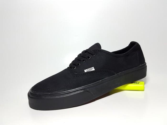 ... harga Sepatu kasual vans authentic premium fullblack   sekolah full  hitam Tokopedia.com. Rp. 115000 3af979cc97
