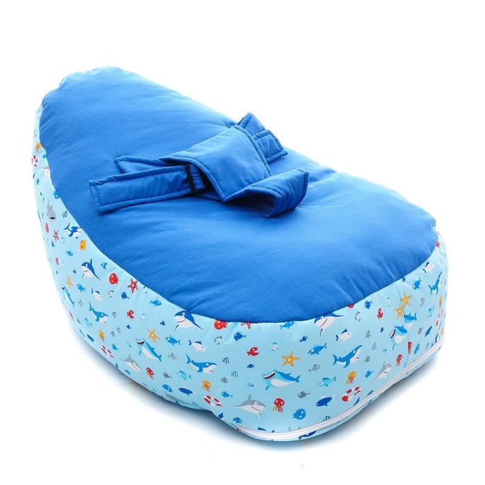 Baby bean bag Blue Animal | Kasur atau sofa bayi