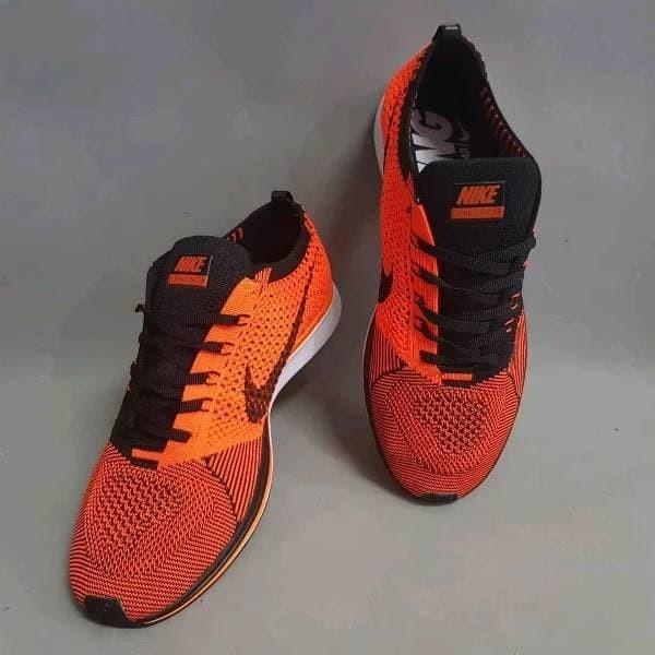 b02449ff4e23 Jual Sepatu Nike Flyknit Racer Outfit Black Orange Premium Quality ...
