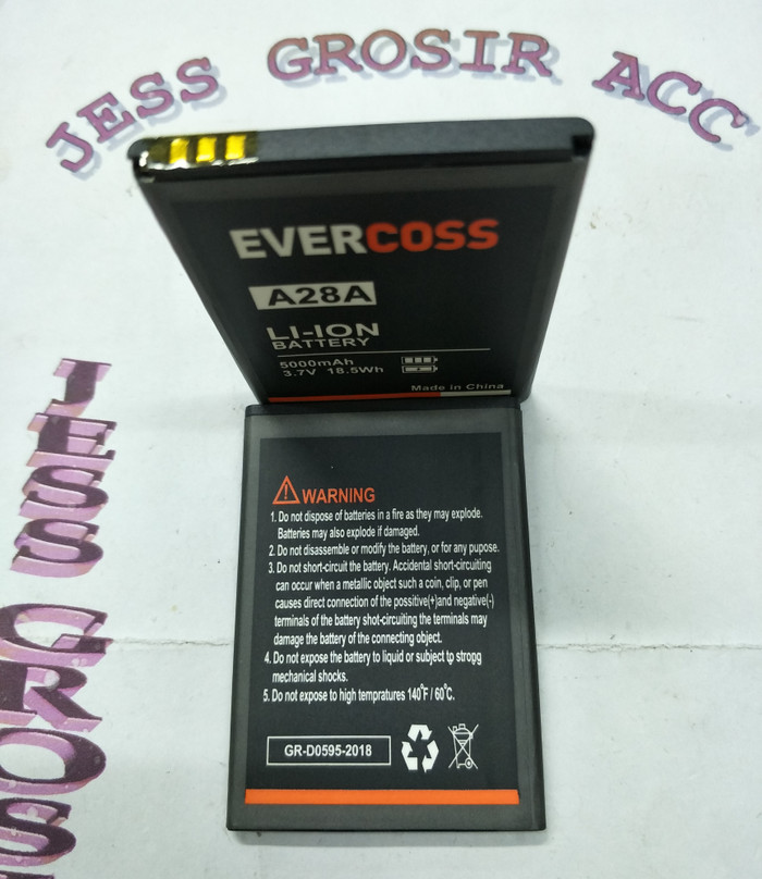 Baterai Battery Evercross Evercoss Cross A28A / A28 Double Power - Hitam