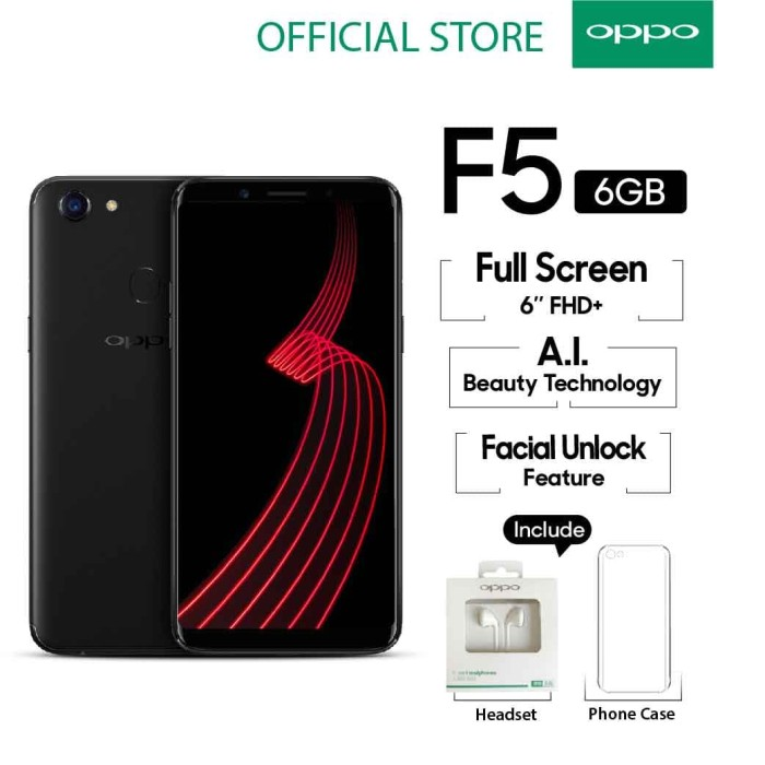 oppo f5 selfie expert & leader - 6/64gb - black