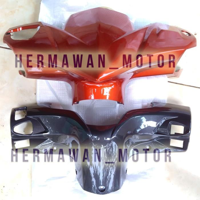 Batok depan Belakang Honda Vario 110 Tehno warna merah dan abu