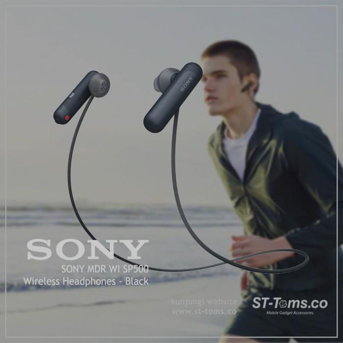 harga Sony mdr wi sp500 / wi-sp500 / sp 500 wireless sport headphone - black Tokopedia.com