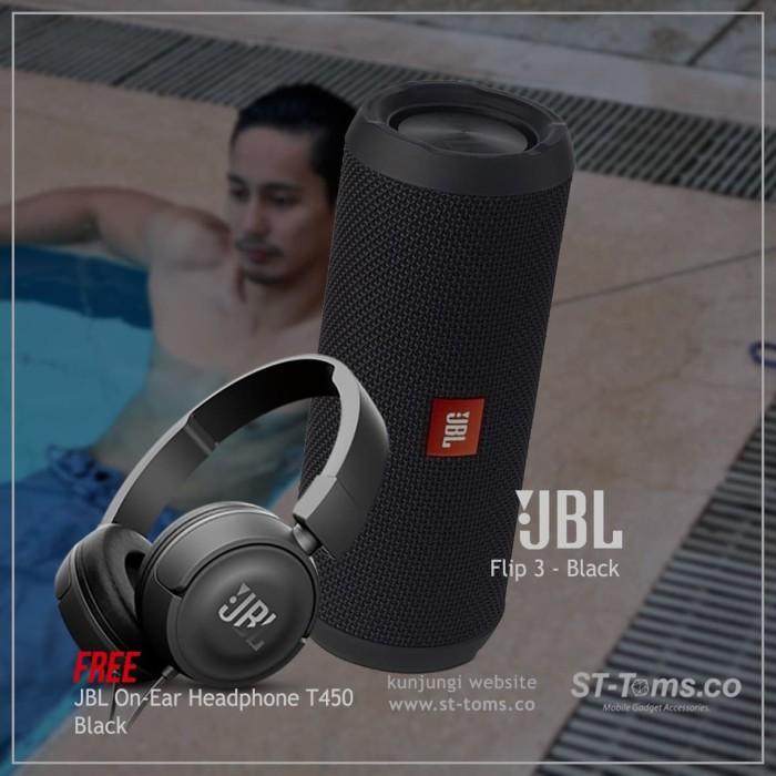 harga Buy 1 get 1 jbl flip 3 - black + jbl t450 black Tokopedia.com