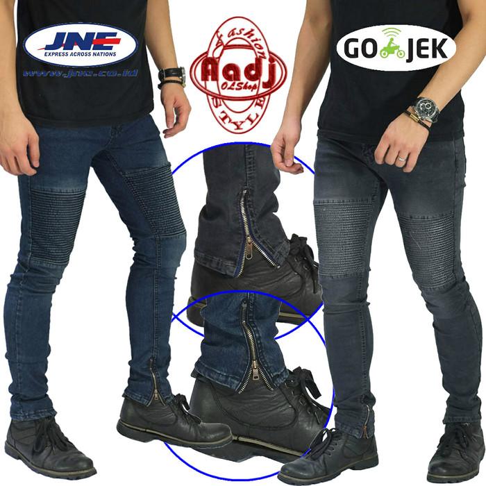 harga Promo...!!! celana jeans touring / biker / rider / motor patch pria Tokopedia.com