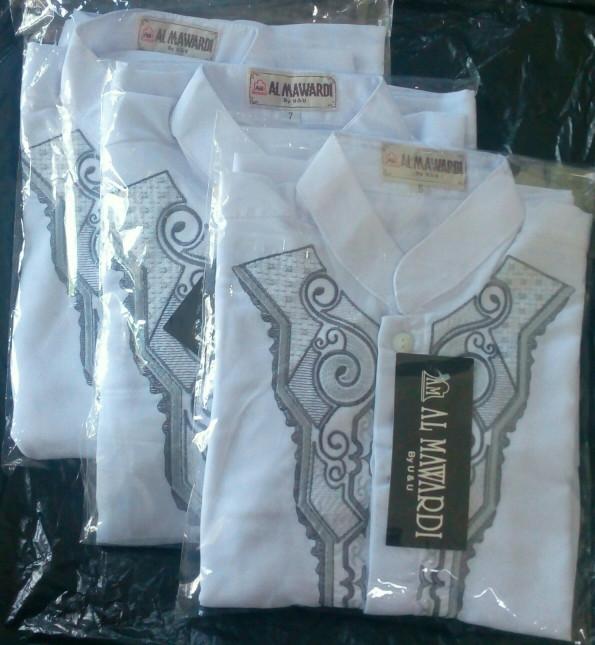 Baju koko anaka dan remaja size nomer 7 warna putih