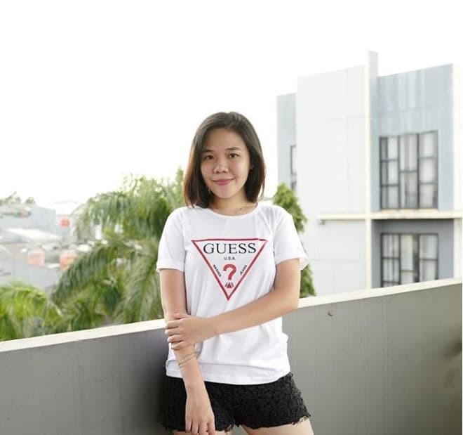 harga Baju kaos guess tumblr tee t-shirt cewe cotton Tokopedia.com