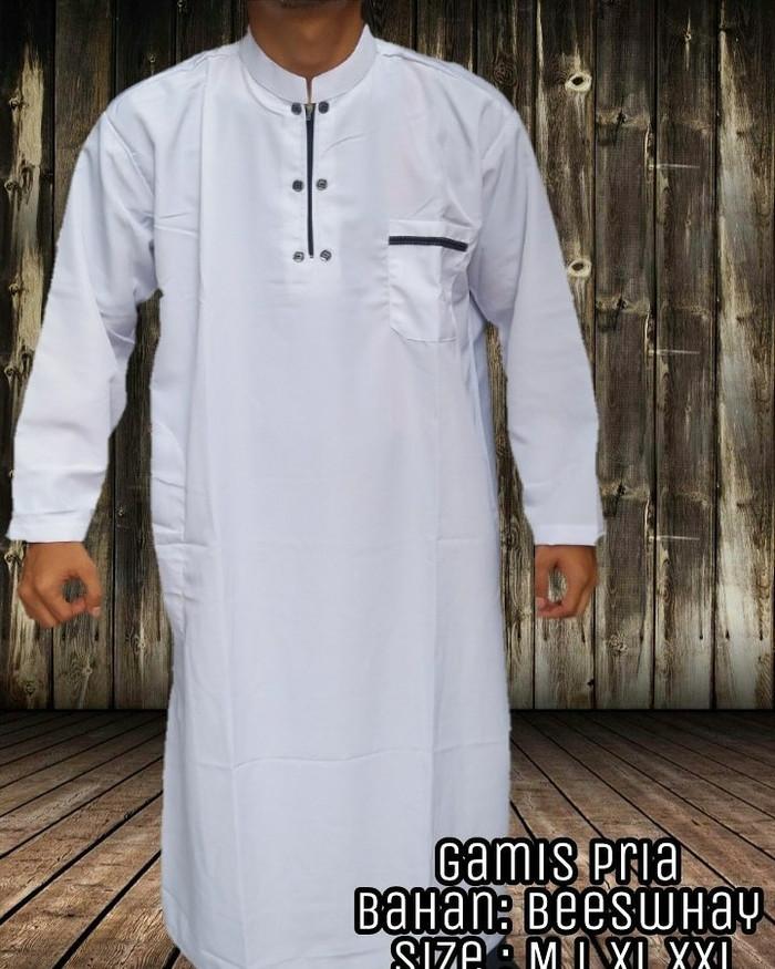Jual Gamis Jubah Pria Putih M Alvero Fashion Tokopedia