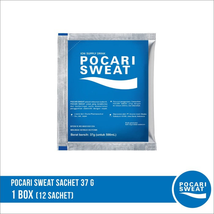 harga Pocari sweat sachet 37 gr 1 box isi 12 sachet Tokopedia.com