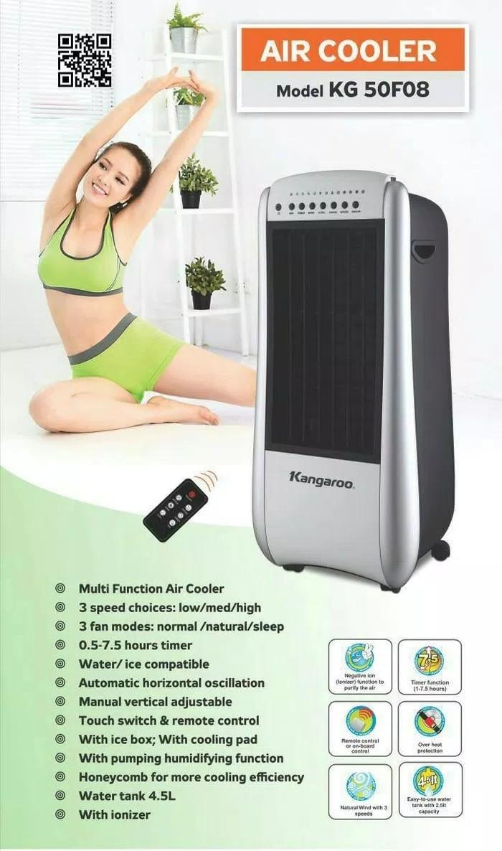 harga Kangaroo air cooler 4.5liter kg-50f08 pendingin ruangan + remote promo Tokopedia.com