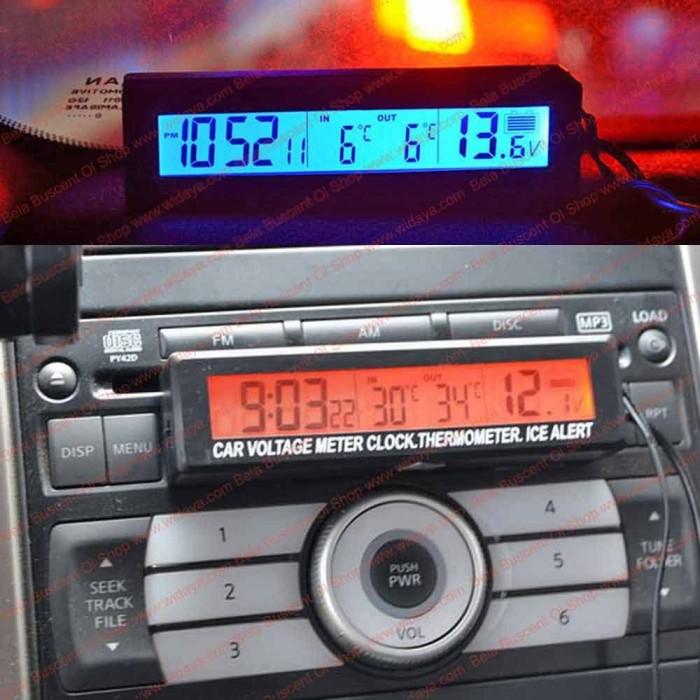 harga Termometer jam digital mobil thermo watch car interior air ventilation Tokopedia.com