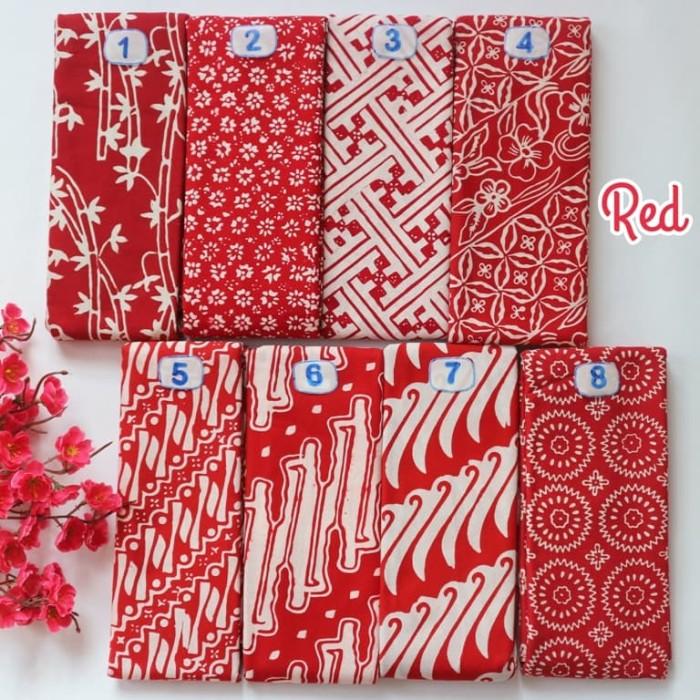 Foto Produk Kain Batik Cap Garutan Halus Murah (SERI MERAH) dari Batik Sarah