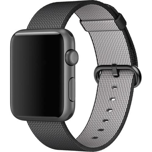 Foto Produk Tali Jam Apple Watch Woven Nylon Strap Band 38mm - Black dari gudanggadget14