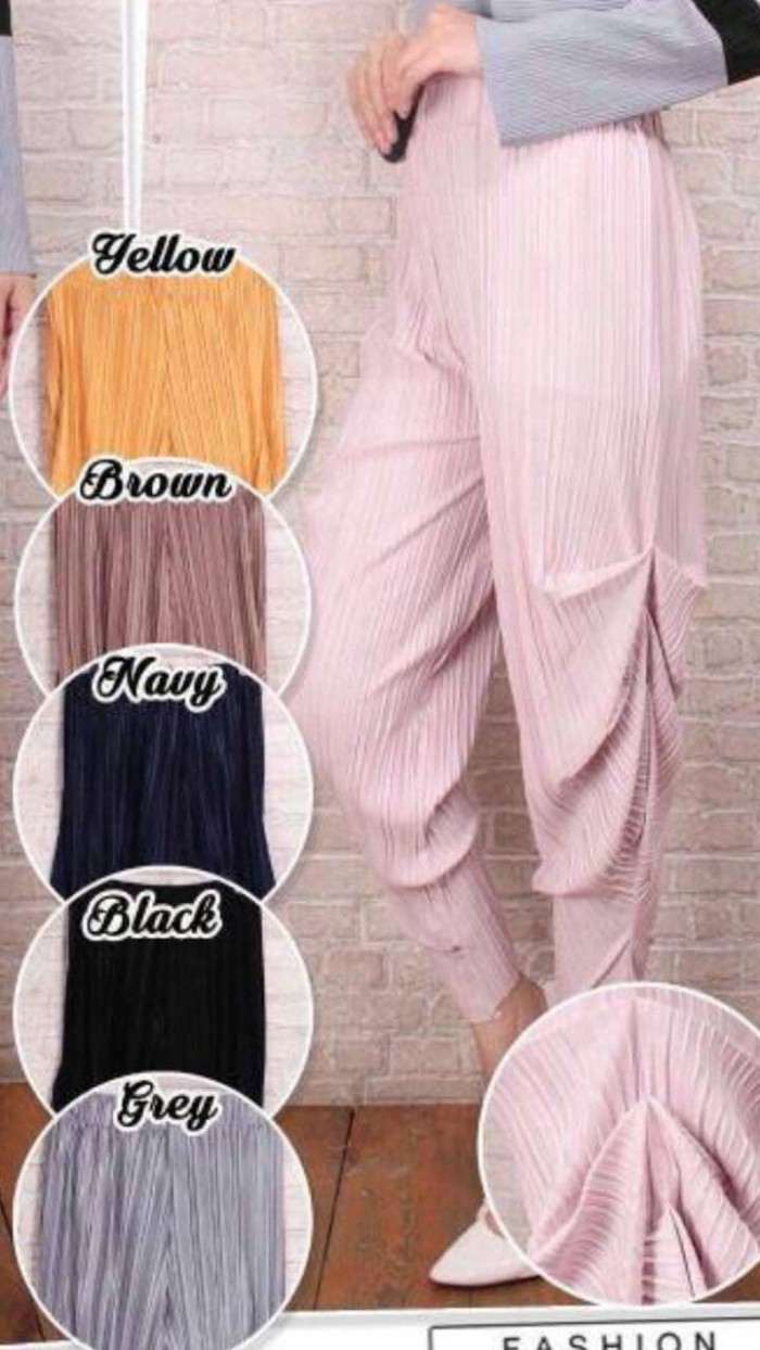 Plisket Cubit Daftar Harga Terkini Dan Termurah Indonesia High Quality Clothing Long Pants Bcpj18100 Celana Real Pict 100 Ivory