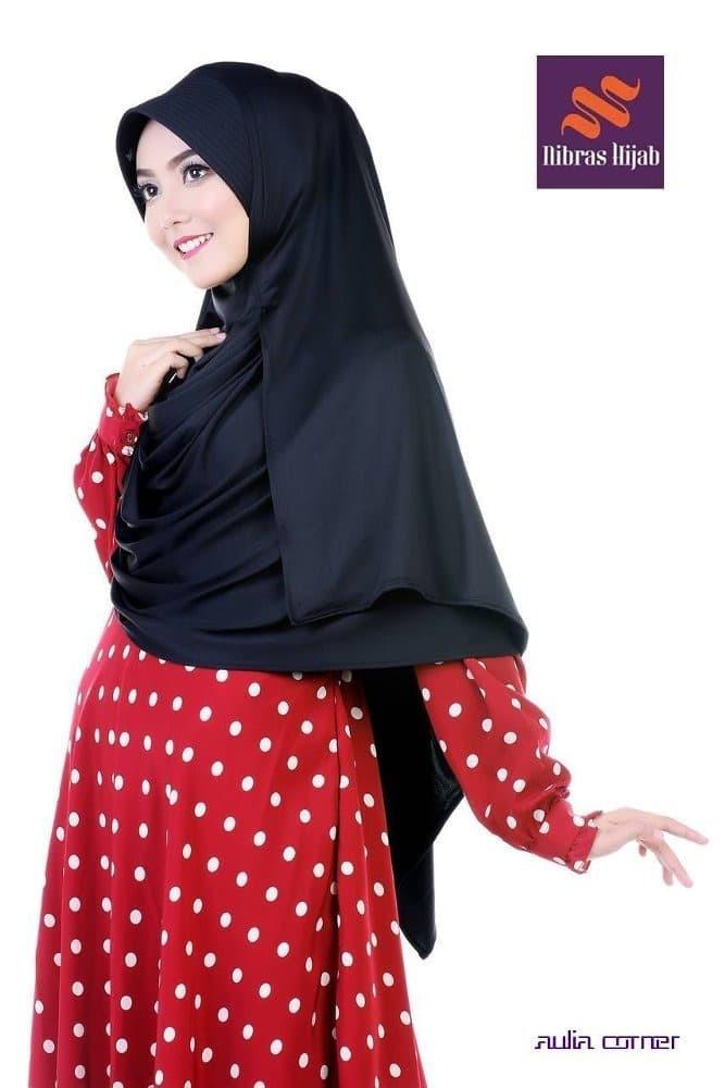 Jual Jilbab Terbaru 2 Pcs Nibras Lazulli Pashtan Pad Hitam Original