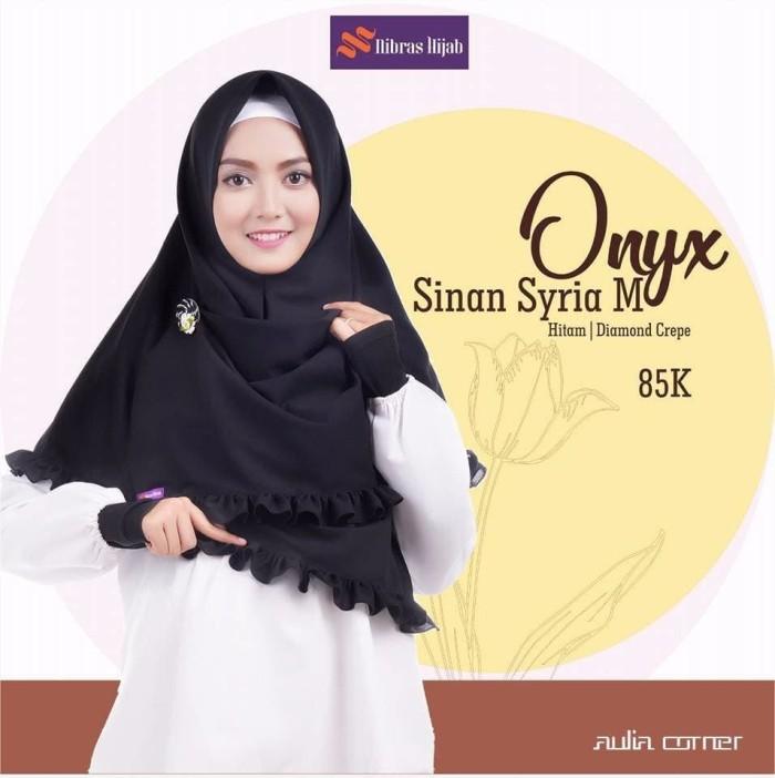 Jual Model Jilbab Terbaru 2 Pcs Nibras Onyx Sinan Syria M Hitam