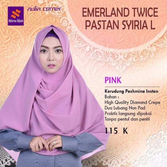 Jual Kerudung Terbaru Nibras Emerald Twice Pastan Syria L Pink