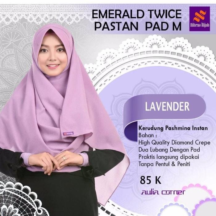 Jual Model Hijab Terbaru 2 Pcs Nibras Emerald Twice Pastan Pad M