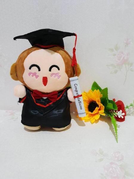harga 09 - boneka wisuda 22cm boneka stitch boneka totoro boneka shinchan Tokopedia.com
