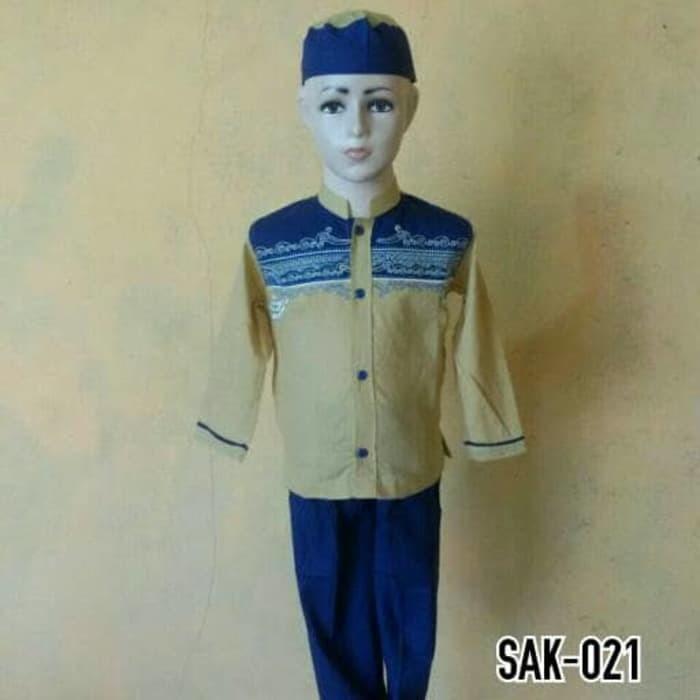 Baju Anak Muslim Lengan Pendek Baju Koko Anak Laki - laki SAK 021 2