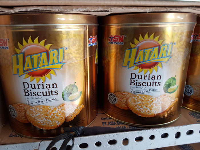 Biskuit Hatari Kaleng Rasa Durian