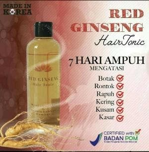 hair tonic red ginseng original BPOM Diskon
