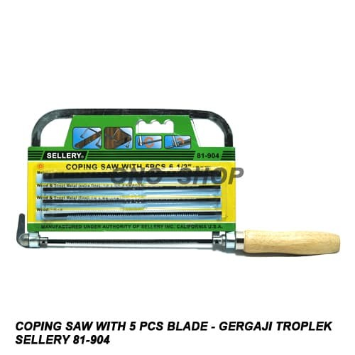 harga Coping saw with 5 pcs blade - gergaji triplek - sellery 81-904 Tokopedia.com