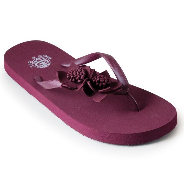 harga Megumi linnea - sandal jepit - maroon Tokopedia.com