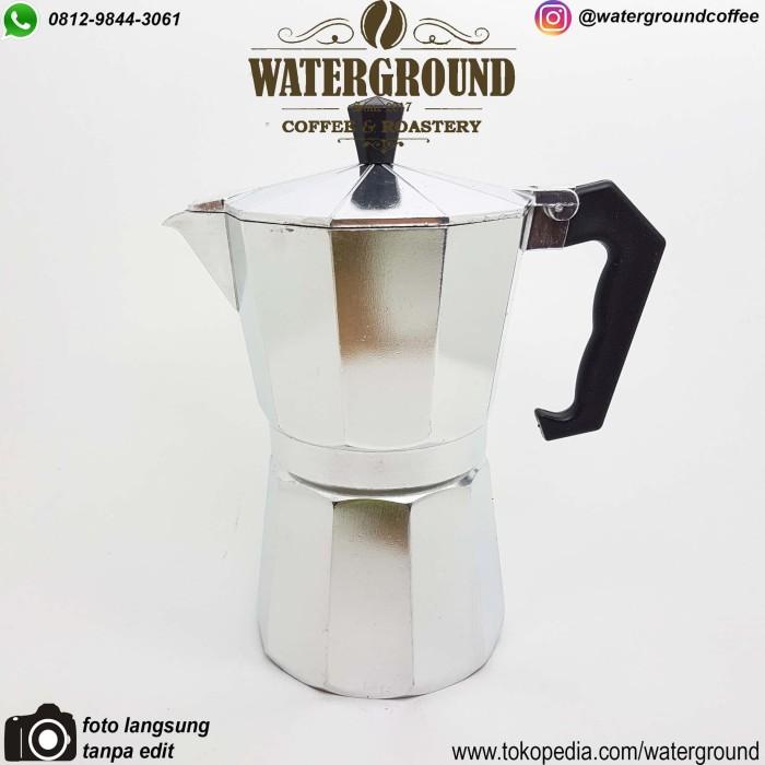 harga Crema moka pot 6 cup (brandless - mirip bialetti) - mokapot espresso Tokopedia.com