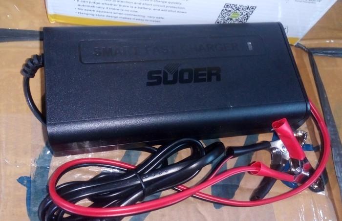 harga Smart fast charger aki 12v 10a hs-1210 murah bagus auto cut off Tokopedia.com