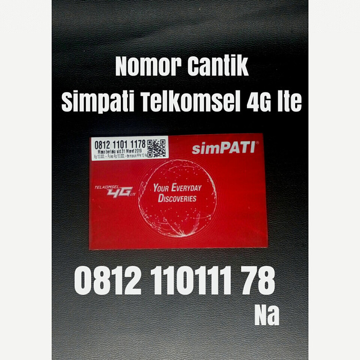 ... nomor cantik simpati telkomsel 4G LTE nomer kartu perdana 1178