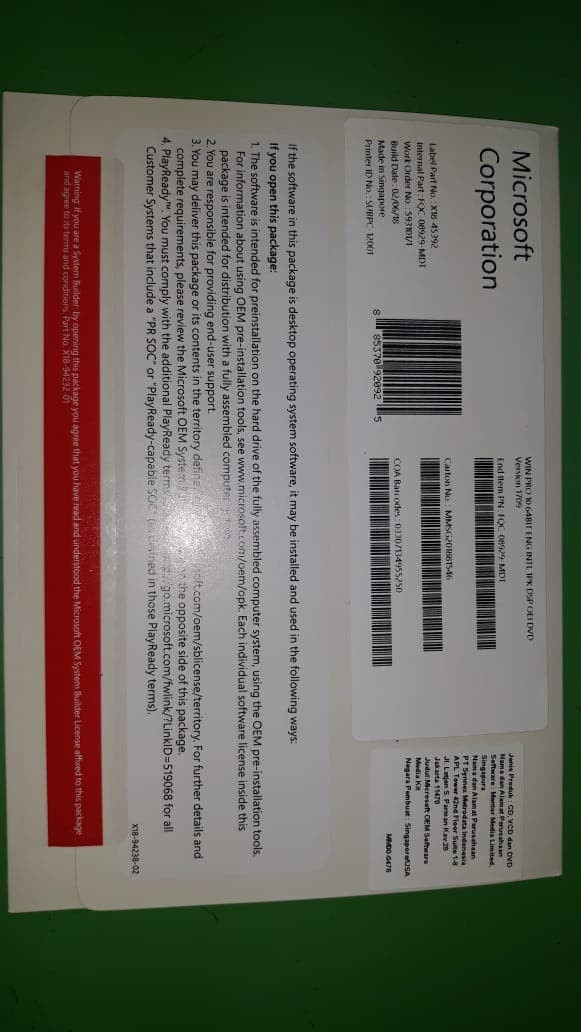 harga Microsoft windows 10 professional Tokopedia.com