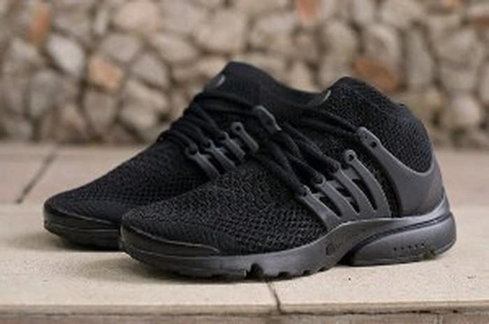 official photos c9624 a1387 ... mens tops shoes all black 0edf8 8ca6b  uk nike air presto ultra flyknit  mid triple black berkualitas af532 7ad78