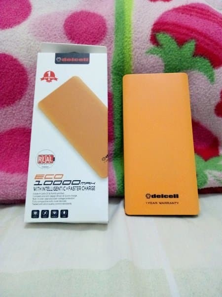 EKLUSIF AWET Delcell ECO Powerbank 10000mAh Real Capacity - Original