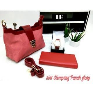 5521de44953 Jual [COOL 93] Slempang Panah glosy Set tas (tas+jam+dompet) - Cool ...