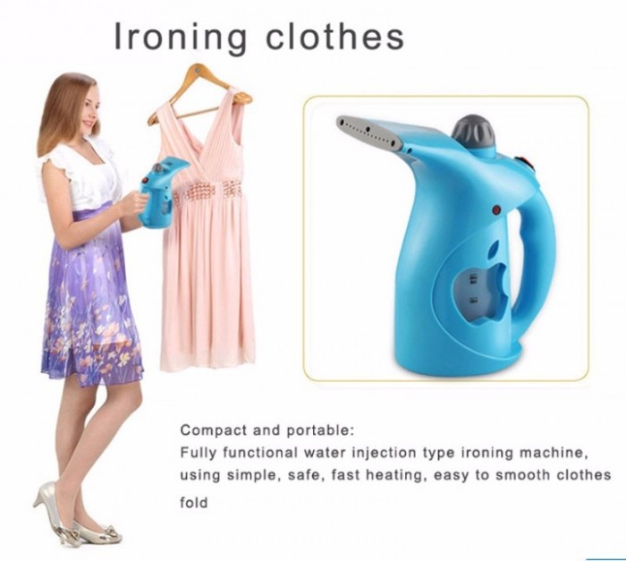harga Irs01 mini clothes handheld steamer iron - setrika uap 200ml Tokopedia.com