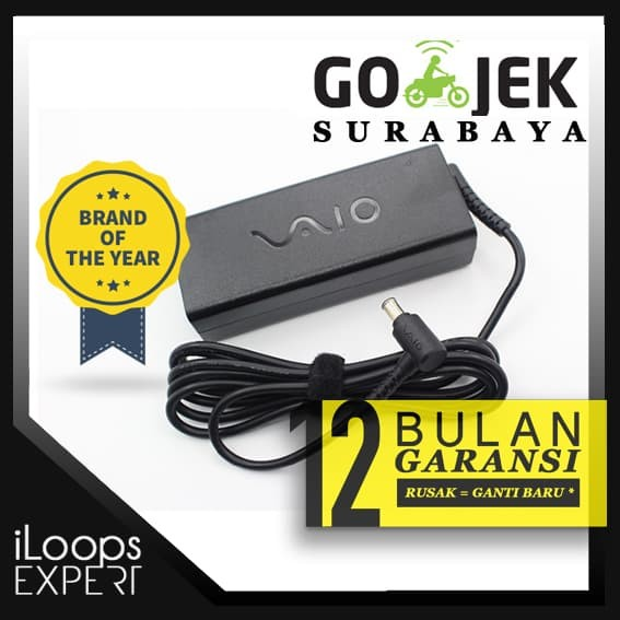 harga Ori garansi 1th adaptor/charger laptop sony vaio 19.5v - 4.7a (logo) Tokopedia.com