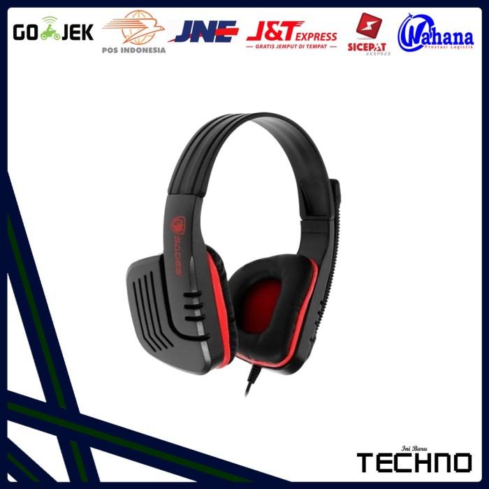 Headset Gaming Stereo Sades Chopper SA - 711 Berbagai Warna - Merah