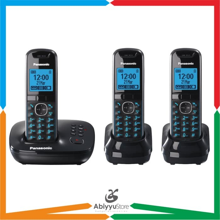 harga Telepon wireless cordless panasonic kx-tg5523 / telephone kantor rumah Tokopedia.com