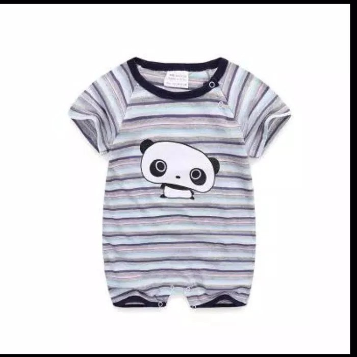 Jumper bayi panda lucu garis garis