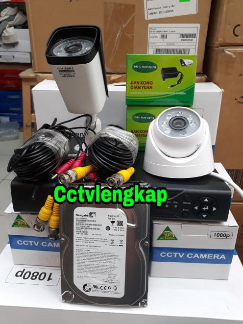 harga Paket cctv 4ch 2kamera ahd 2mp full hd komplit tgl pasang Tokopedia.com