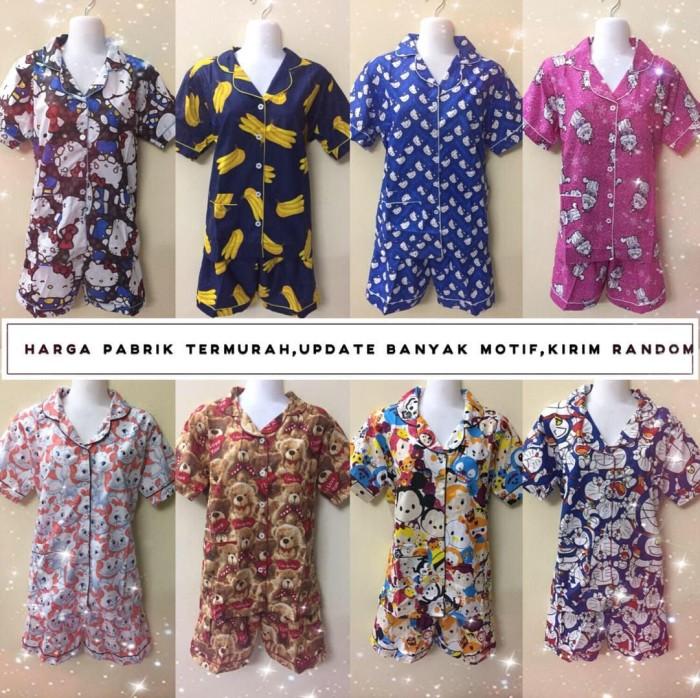 Baju tidur piyama 3/4 dewasa stelan wanita fashion murah tanah abang
