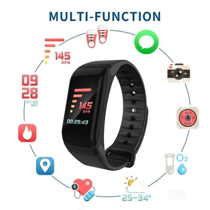 harga Smartband f1 new color lcd heart rate monitor blood - xiaomi miband 2 Tokopedia.com