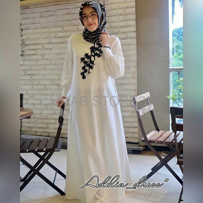 Jual Dres busana baju gamis syari Muslim Wanita Dewasa Terbaru GS055 ... 68f99fa628
