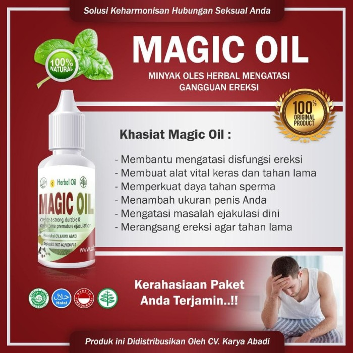 Magic Oil- Obat Herbal Oles Atasi Impotensi